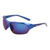 Sport Wholesale Men's Sunglasses - Style # XS7007 Blue w/Blue Mirror