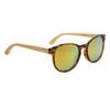 Women's Fashion Bamboo Wood Sunglasses - Style #W8003 Tortoise w/Gold Revo