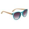 Women's Fashion Bamboo Wood Sunglasses - Style #W8003 Blue