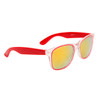 Mirrored California Classics Sunglasses Wholesale - Style #34214 Red w/Gold Flash
