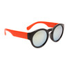 Lady Gaga Fashion Wholesale Sunglasses - Style #34015 Black/Orange w/Revo