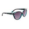 Bulk Cat-Eye Rhinestone Sunglasses - Style #DI605 Blues