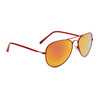 Wholesale Mirrored Aviators - Style #34720 Red with Red-Gold Mirror