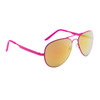 Aviator Sunglasses by the Dozen - Style #6074 Hot Pink with Red/Gold Mirror
