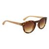 Hand Made Fashion Bamboo Wood Sunglasses - Style #W8007 Tortoise w/Gold Revo