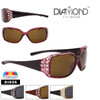 Diamond™ Polarized Rhinestone Etched Temple Sunglasses - Style #DI606