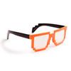 Orange & Black Pixel Glasses!