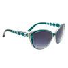 Diamond™ Eyewear Cat Eye Sunglasses with Rhinestones DI6013 Green