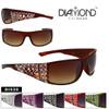Diamond Eyewear Faux Rhinestone Sunglasses