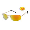 Xsportz™ Metal Frame Sports Sunglasses - Style # XS565 Gold w/Gold Flash Mirror