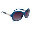 Ladies Rhinestone Sunglasses DI122 Blue Frame Color