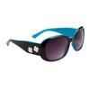 DE™ Fashion Sunglasses by the Dozen - Style #DE115 Gloss Black with Blue