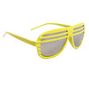 Mirrored Lens Shutter Shades 515 Yellow Frame Color