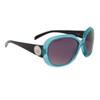 Fashion Sunglasses for Women DE114 Black & Transparent Blue Frame