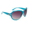 Fancy Fashion Sunglasses 24614 Gloss Blue Frame Color w/Silver Accents
