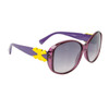 Women's Fashion Sunglasses Wholesale 21015 Lavender & Transparent Lavender Frame w/Yellow Bow