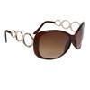 Designer Sunglasses Wholesale 24716 Gloss Brown Frame Color w/Gold