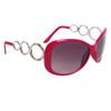 Designer Sunglasses Wholesale 24716 Gloss Rose Frame Color w/Silver