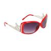 Wholesale Fashion Sunglasses Light Silver Fleur de Lis 20518 Red Frame Color