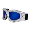 Goggles Wholesale G419 Silver Frame w/Blue Revo Lens