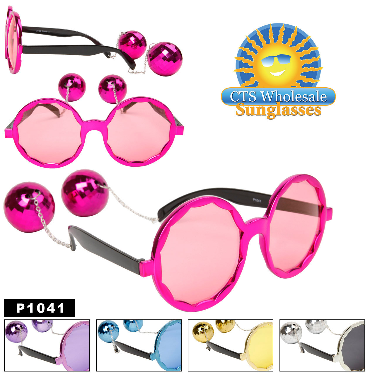 Disco Ball Party Glasses
