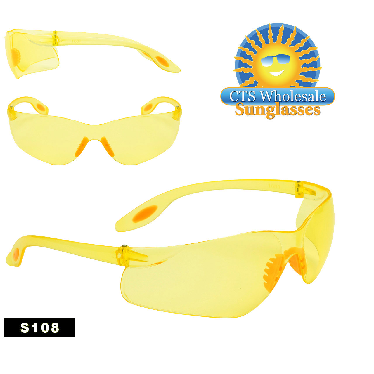 Yellow Safety Glasses S108