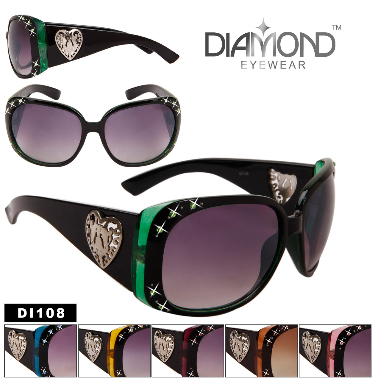 DI108 Rhinestone Sunglasses