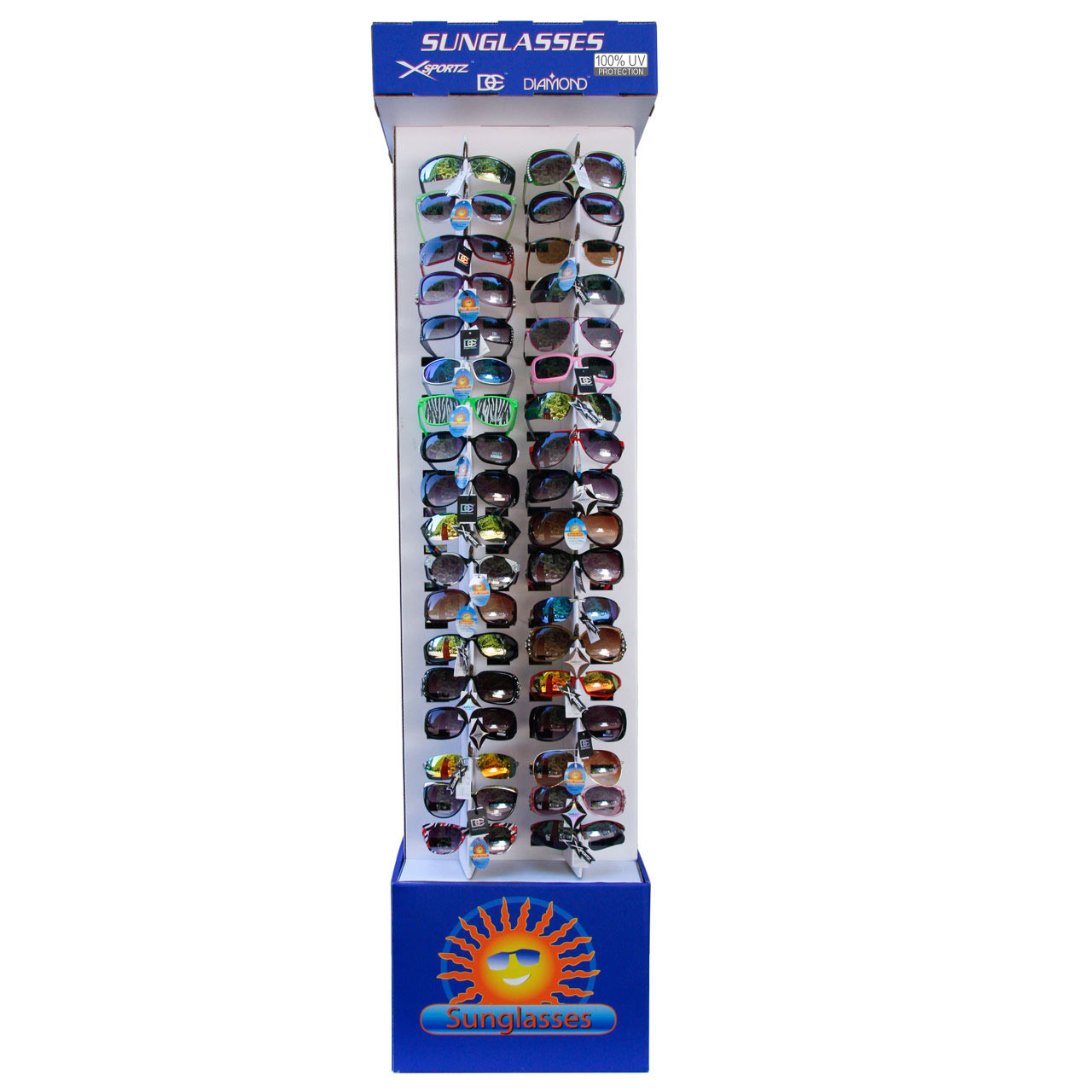 Cardboard Sunglass Display 7002 Holds 72 Pair