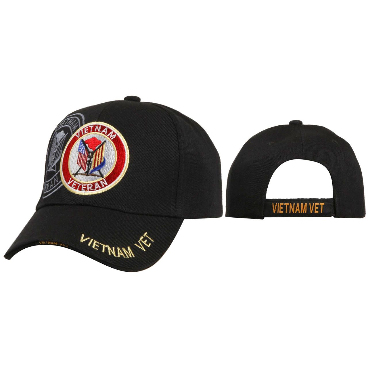Veteran Caps Wholesale C157 ~ Vietnam Veteran ~ Black
