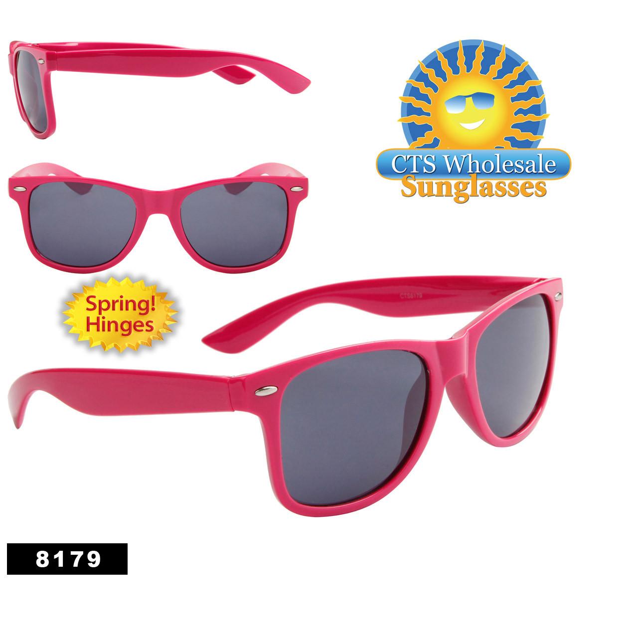 Magenta California Classics Sunglasses by the Dozen - Style # 8179 Spring Hinge
