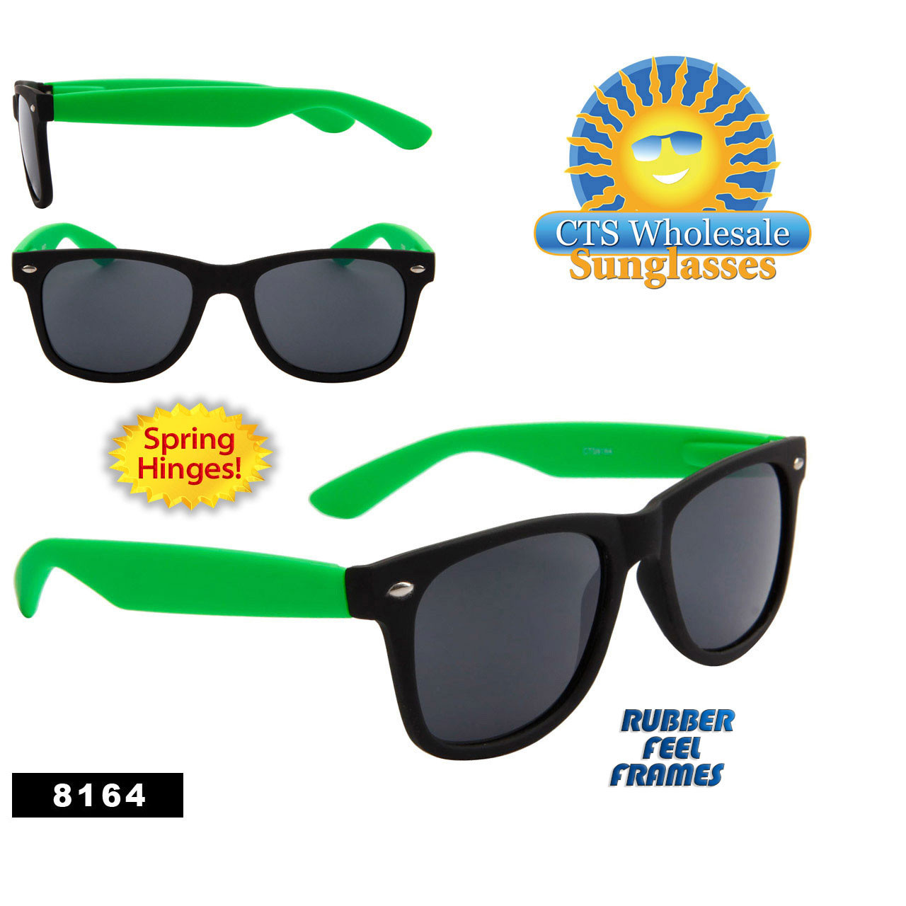 Black & Green California Classics Sunglasses Wholesale - Style #8164