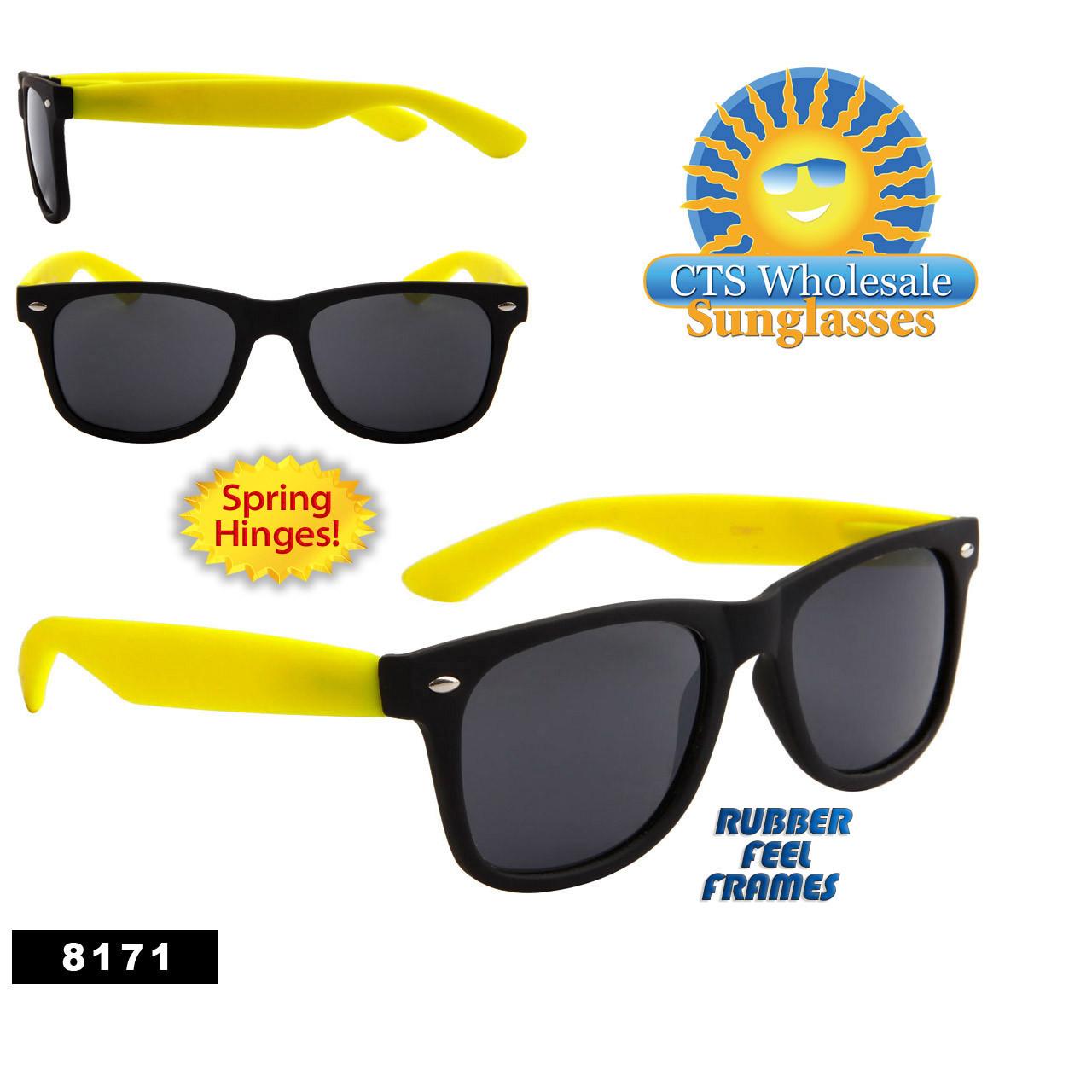 Matte Black & Yellow Wholesale California Classics - Style # 8171