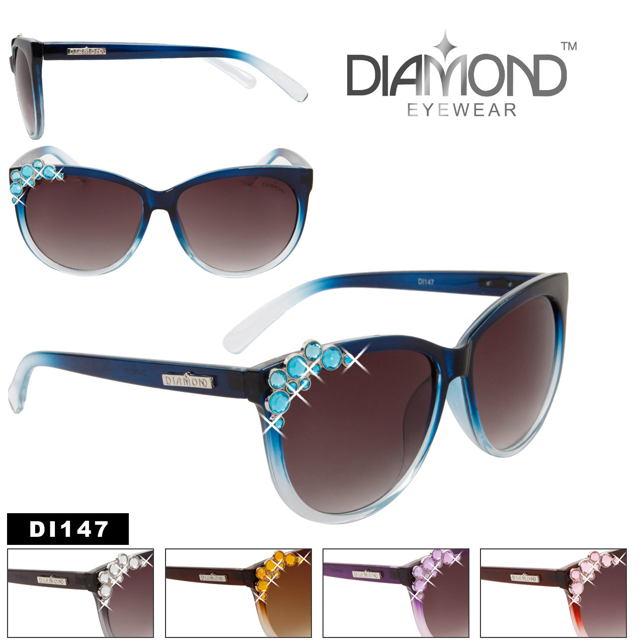 Diamond™ Eyewear Sunglasses Wholesale - Style # DI147