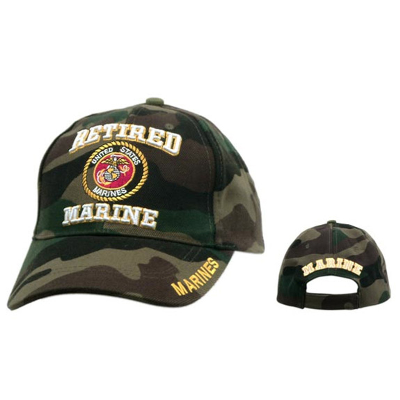 Wholesale Baseball Cap C131 (1 pc.) Retired Marine Camo