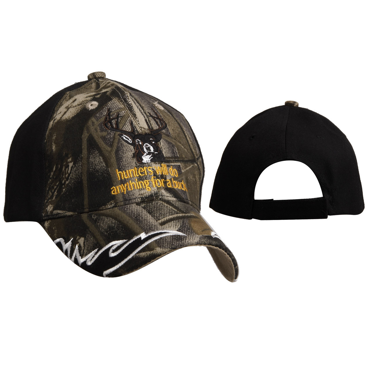 """""""Hunters will do anything for a buck"""" Wholesale Baseball Cap C6009"""