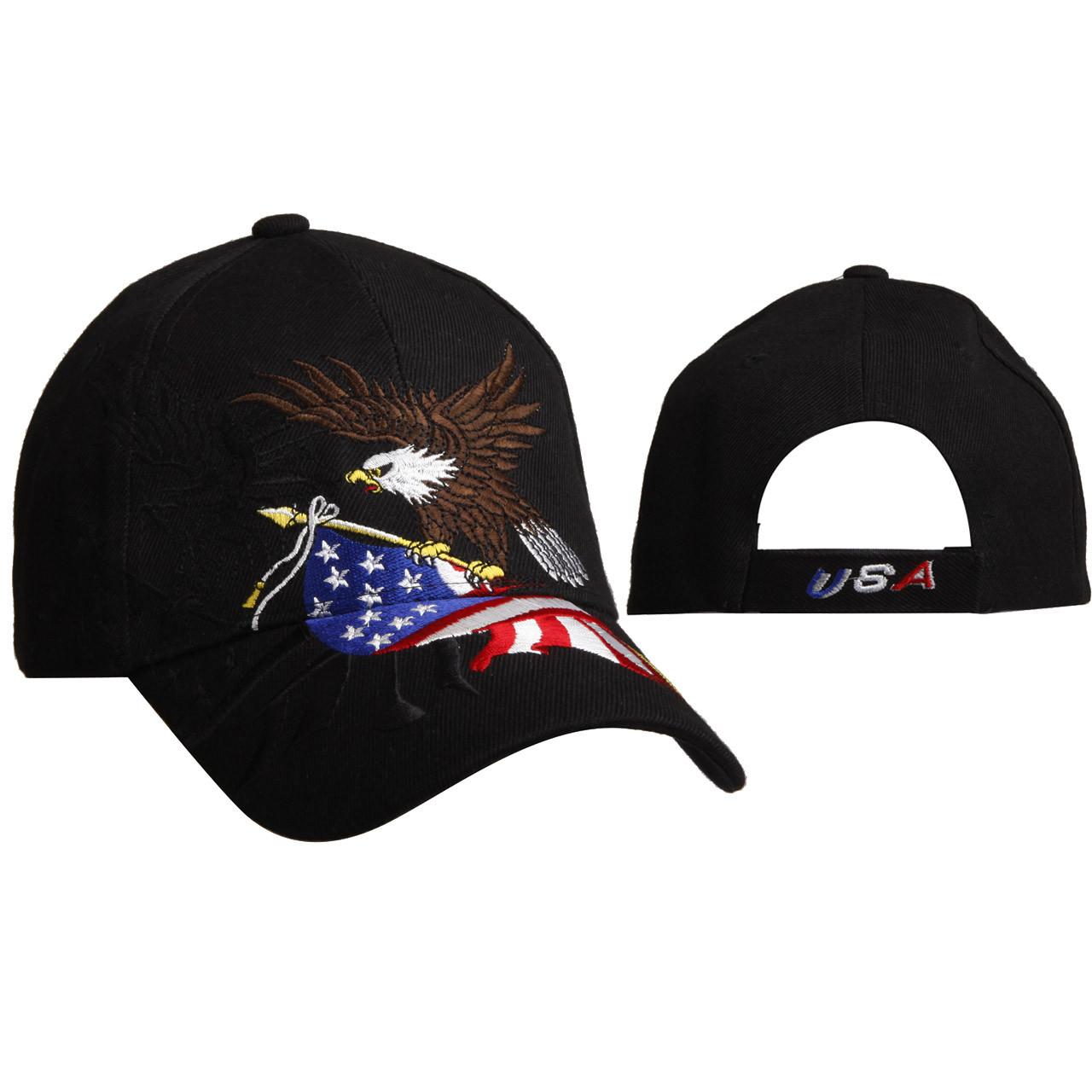 Patriotic Wholesale Cap C6011 - Black