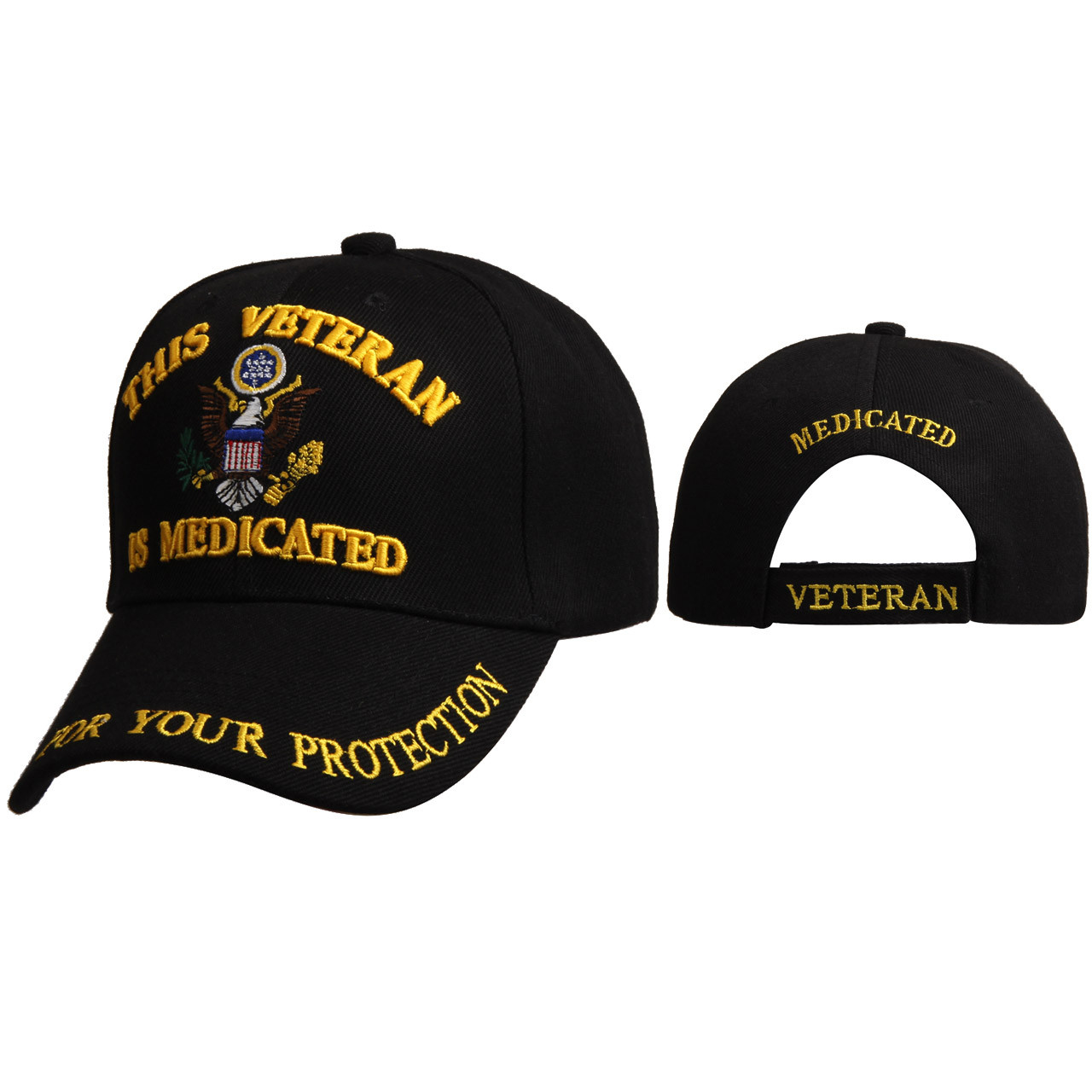 "Wholesale Cap C6002 (1 pc.) ""This Veteran is Medicated for Your Protection"""