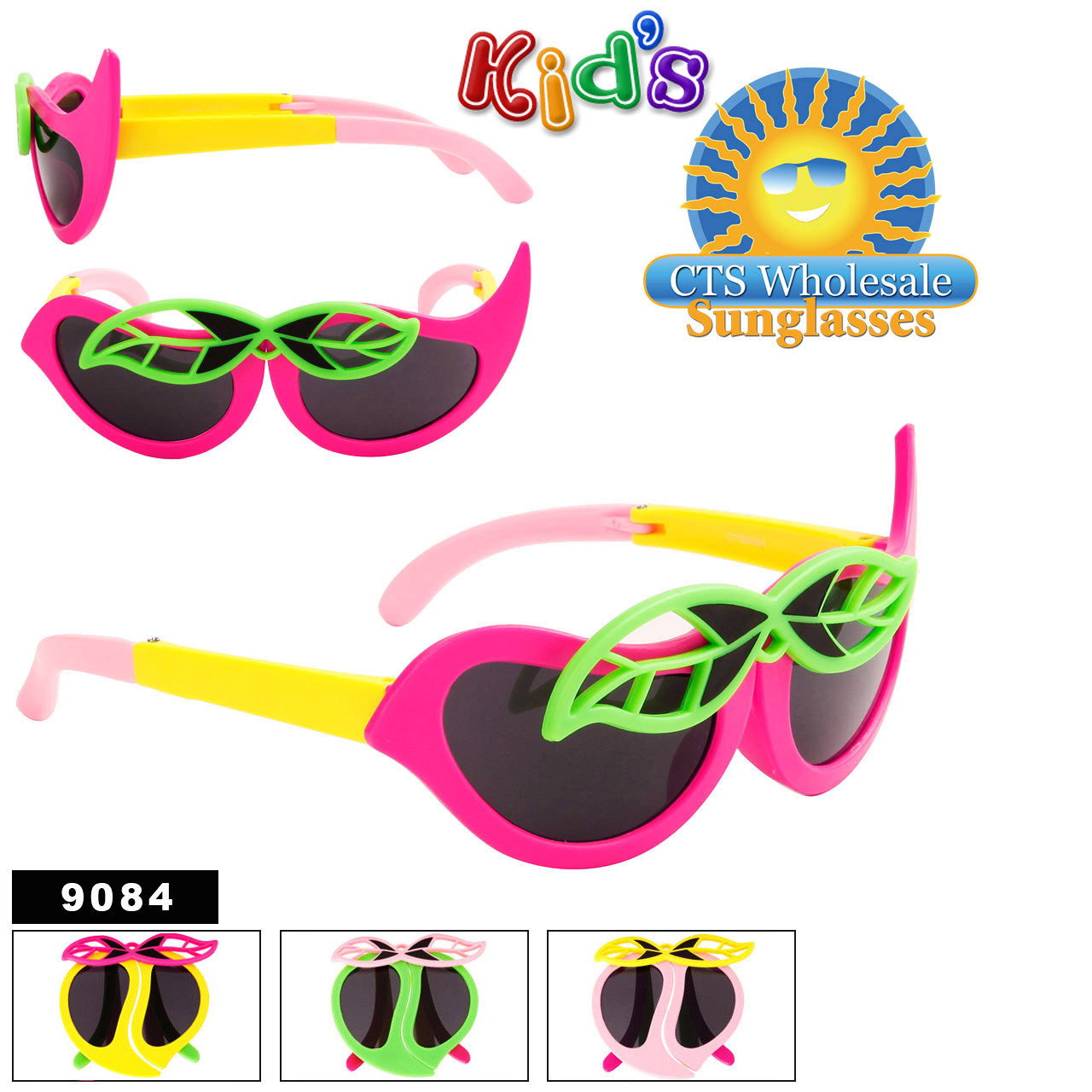 Folding Wholesale Kid's Sunglasses - Style #9084
