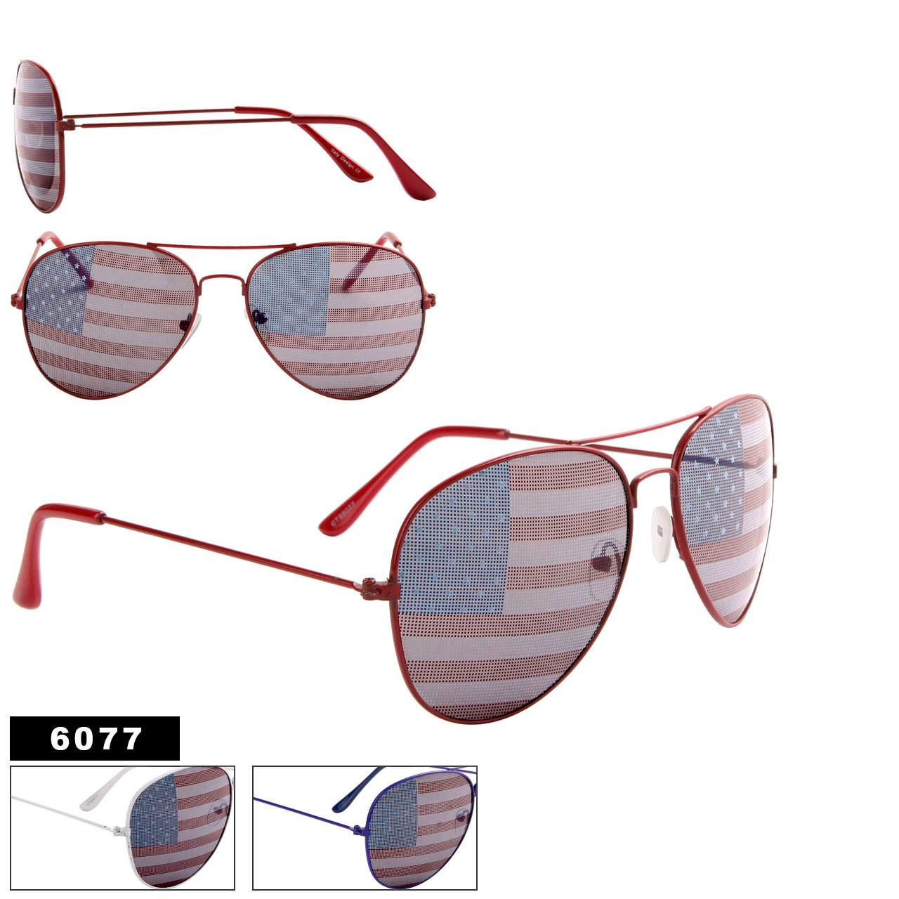 American Flag Aviators Wholesale - Style #6077