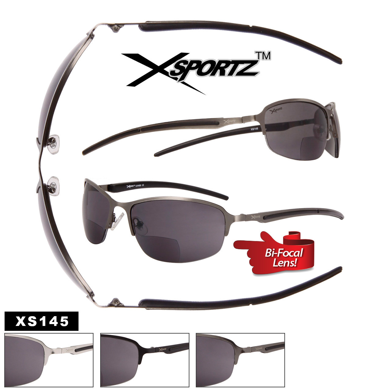 Xsportz™ Bi-Focal Sunglasses Wholesale - Style #XS145