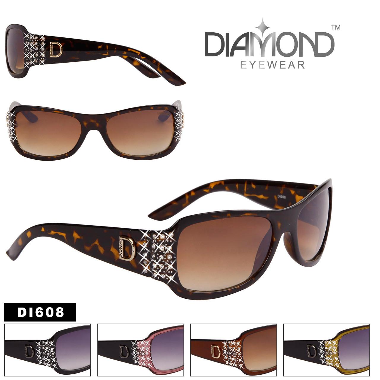 Diamond™ Classic Rectangle Rhinestone Sunglasses - Style #DI608