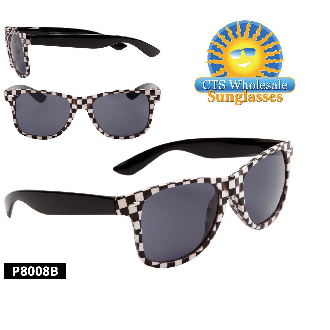 Checkered California Classics Sunglasses - Style P8008B