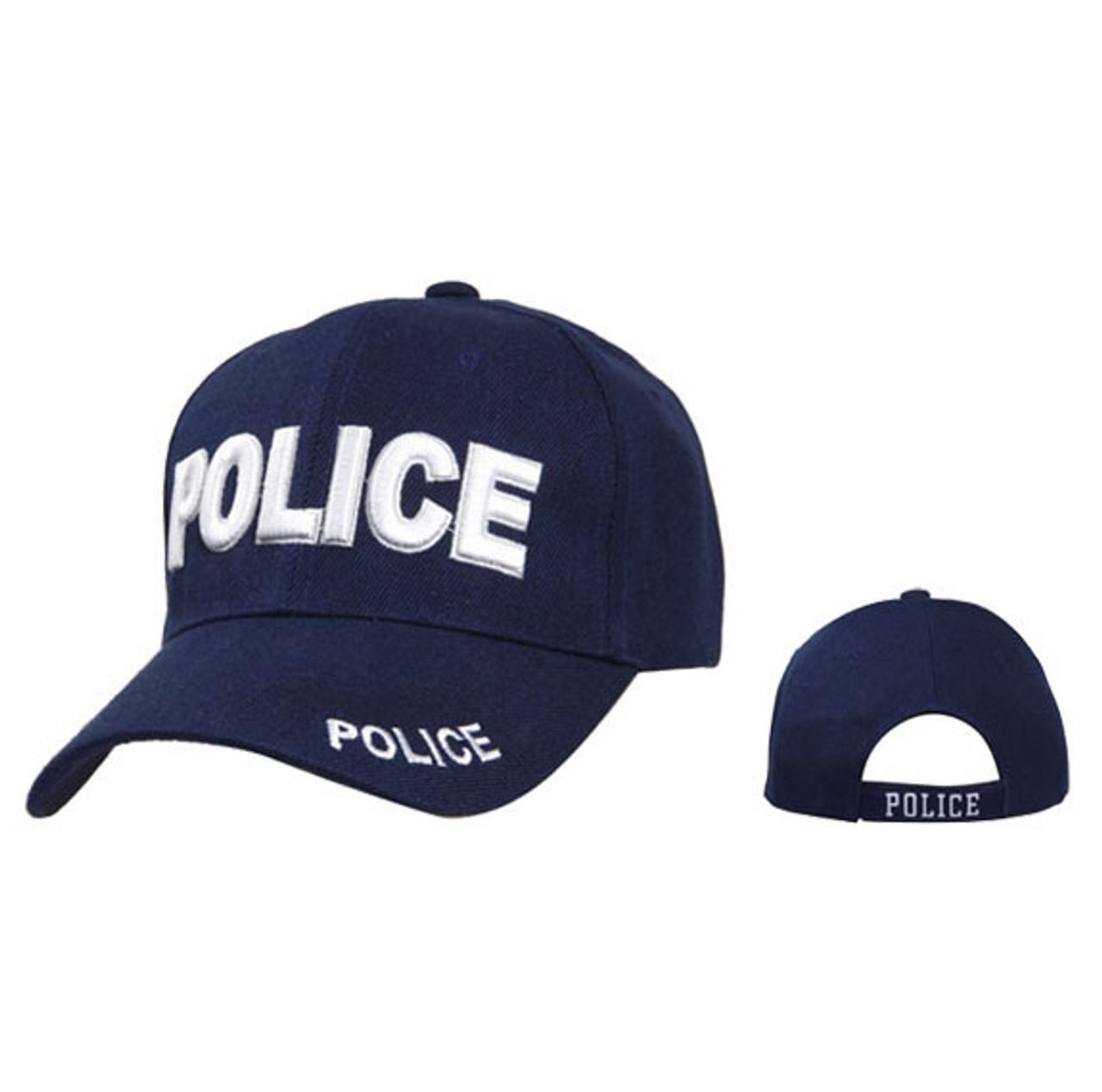 Wholesale Baseball Cap ~ C1048A ~ POLICE ~ Navy Blue