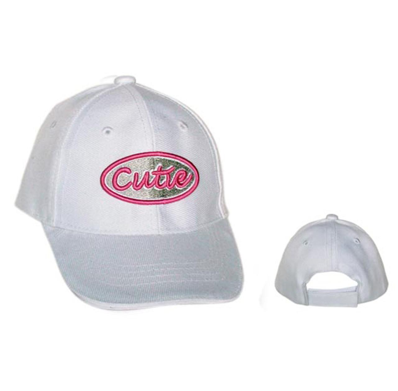 Infant Wholesale Baseball Caps-White