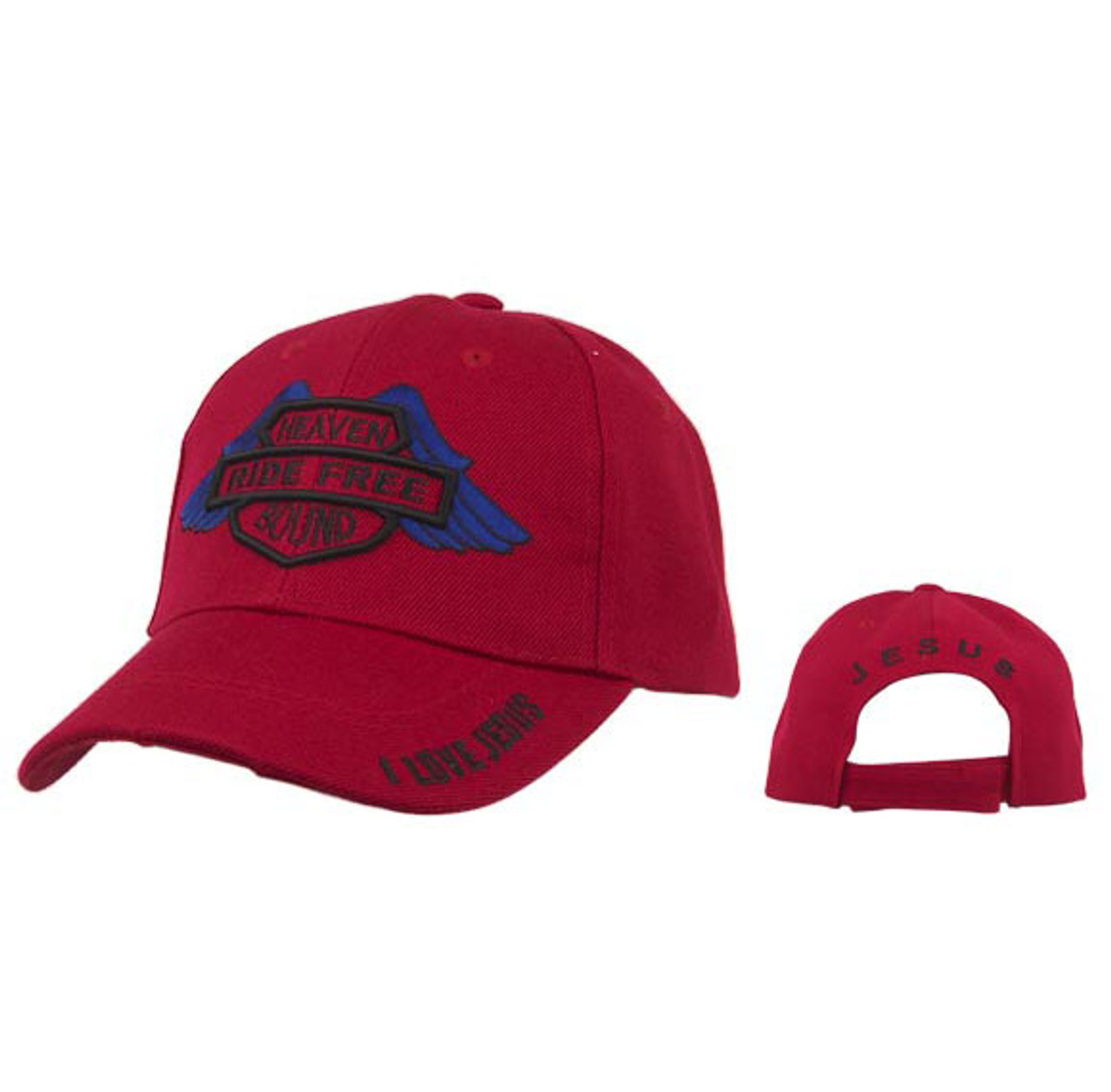 Red Heaven Bound   Ride Free   Wholesale Baseball Caps