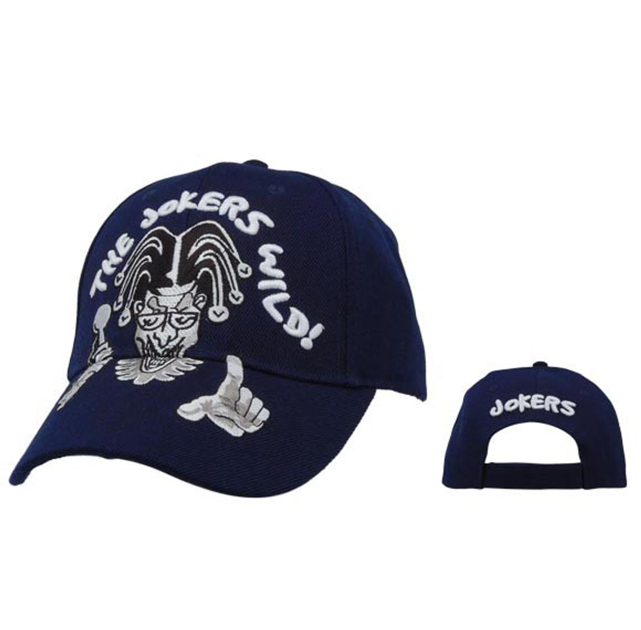 Blue Joker's Wild Wholesale Baseball Caps