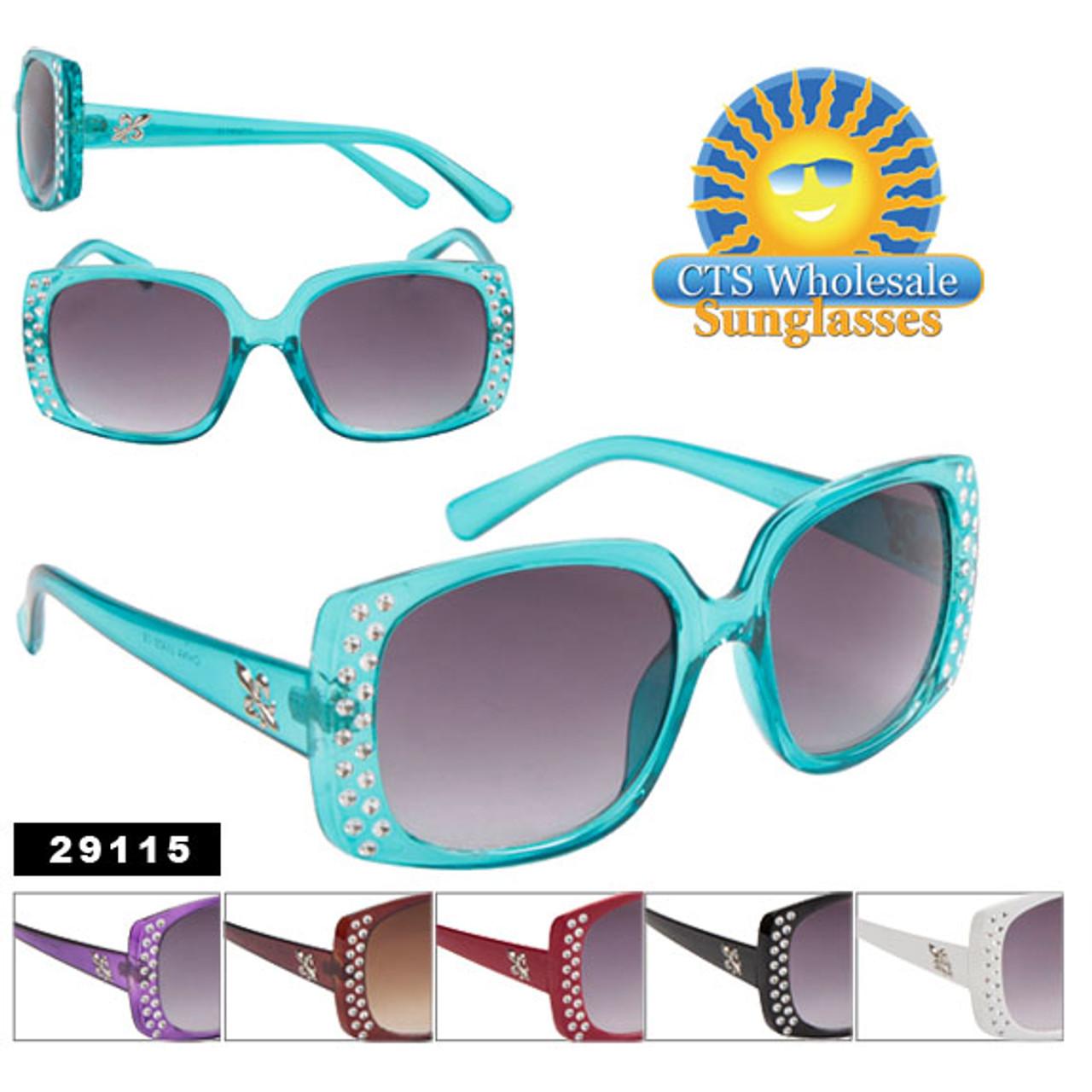 Painted Faux Rhinestone Technique Sunglasses