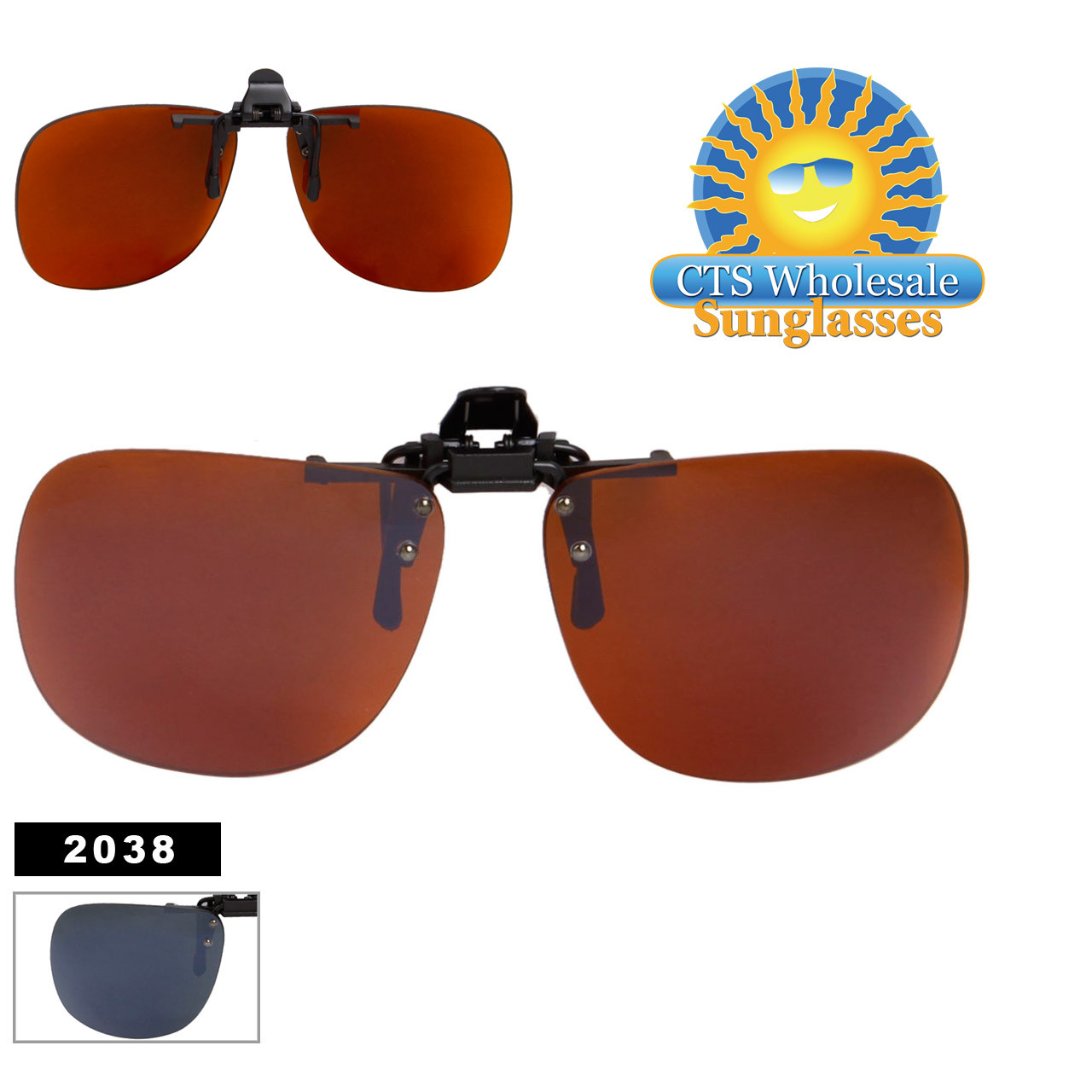 Flip Up Style Wholesale Clip On Sunglasses 2038