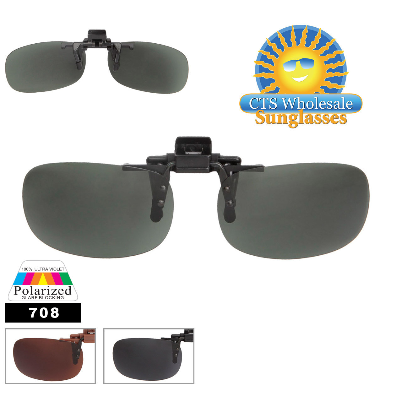 Clip On Sunglasses with Polarized Lens 708