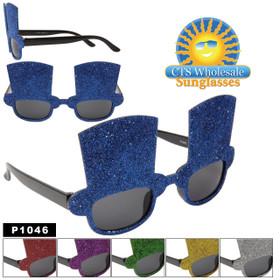 "Party Glasses ""Top Hats""  ~ P1046 (12 pcs.) (Assorted Colors)"